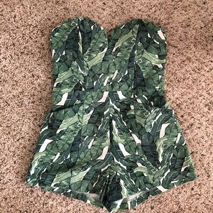 H&M Tropical Structured Romper